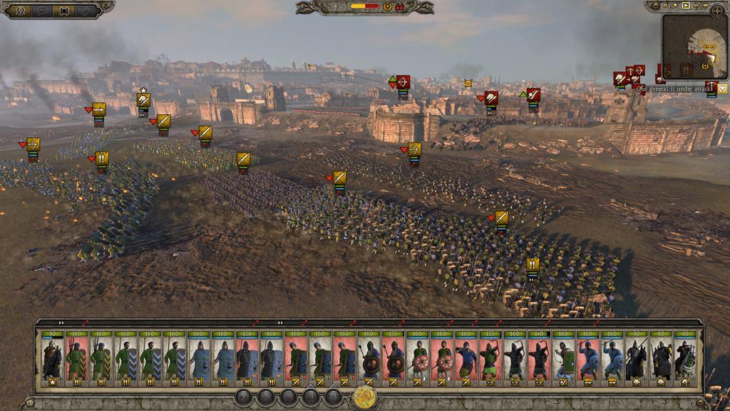 лучшая армия аттила тотал вар внимание